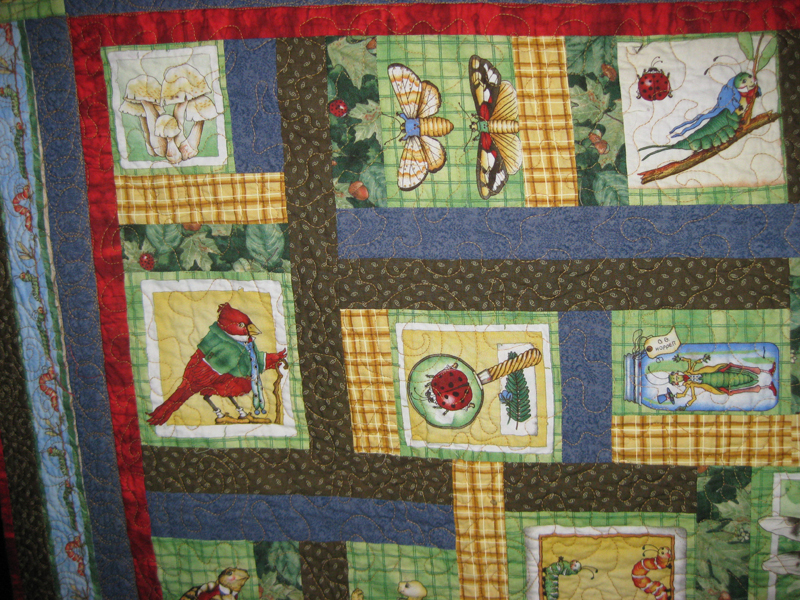 Woodsy Wonders Quilt close up
