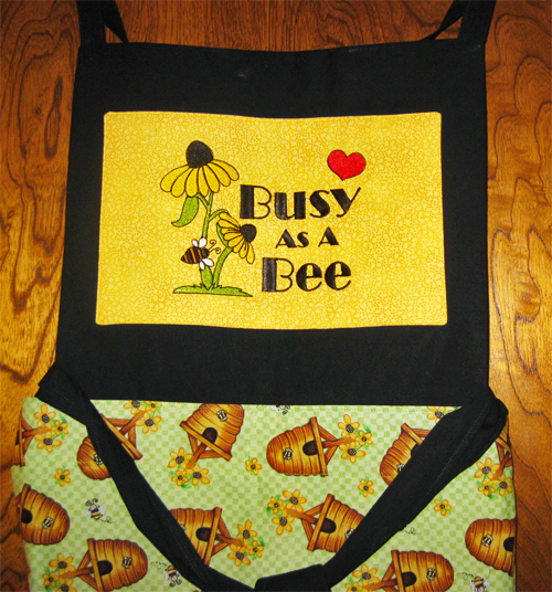 June apron, Scrappy Cats