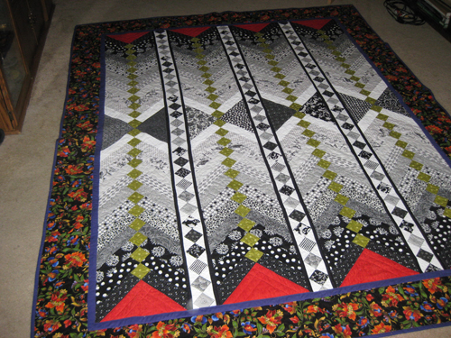 French braid quilt - Moving On by Scrappy Cats