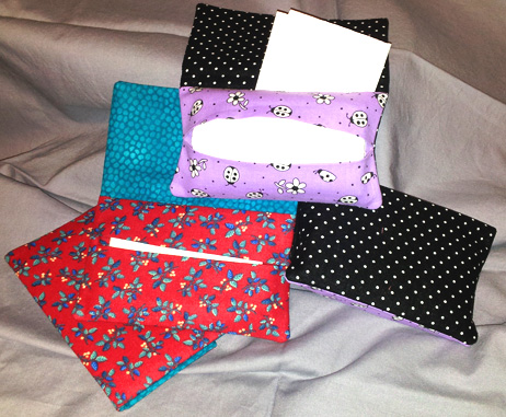Tissue Holders with Pockets