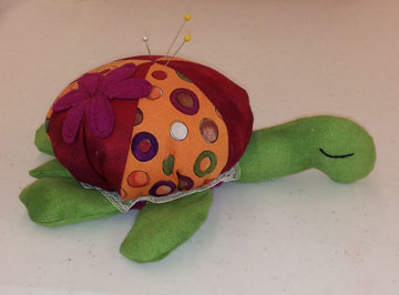 Turtle Pincushion named Dottie